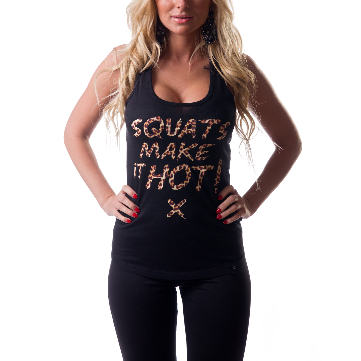 Tílko ICONICGYM Squats Make It Hot - leopard | černá, XL